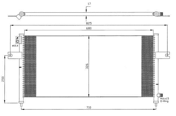 Auto A/C Condenser For NISSAN PICKUP 98-05