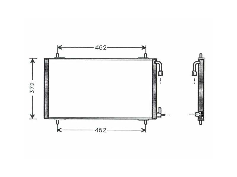 Auto AC Condenser Fits PEUGEOT 206 1.1i-2.0HDi 09.98-18