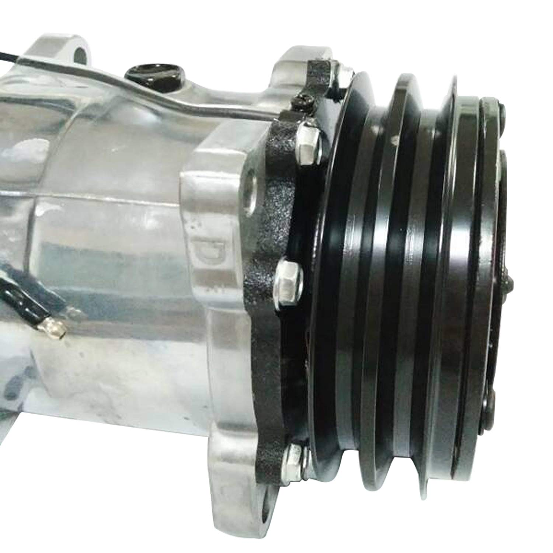 Universal AC Compressor with Black 2PK Clutch Sanden 508 5H14 R134A